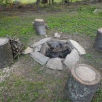 The rough and rugged fire pit!